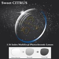 Sweet CITRUS 1 56 Index Freeform Index Photochromic Transition Progressive Addition Multifocal Optical Prescription Lens Glasses