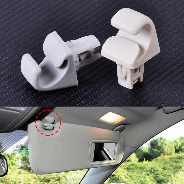 CITALL Plastic Sun Visor Hook Clip Bracket Hanger Fit for Toyota Camry  Corolla Corolla Matrix Highlander Prius RAV4 Solara b0d4a23ad43