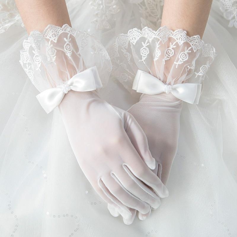 Original Lolita Lolita Miss Cos White Gloves Bow Lace Lace Mesh Accessories