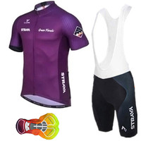 2019 New Strava Team Short Sleeves Breathable Cycling Jerseys Bib Set Quick Dry Bike Clothing Ropa Maillot Ciclismo with 16D GEL