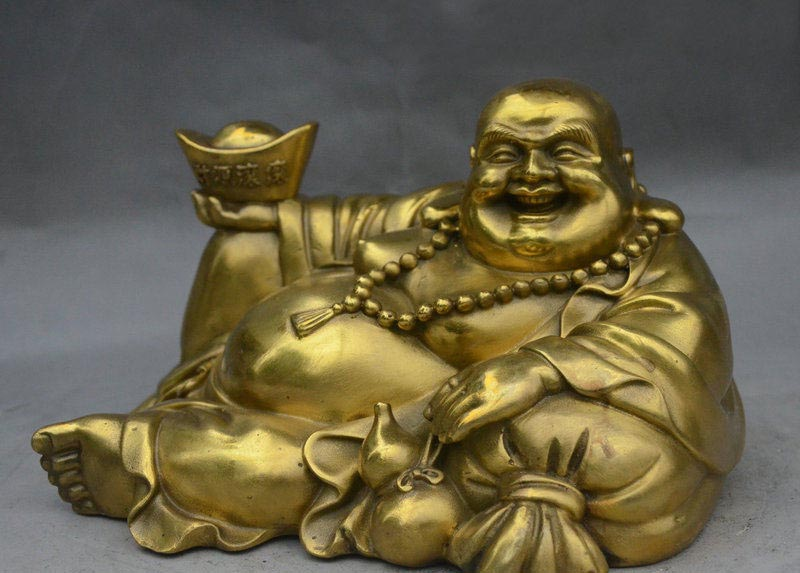 8 China Brass Famous General Dragon Warrior GuanGong GuanYu God Look Book Statue