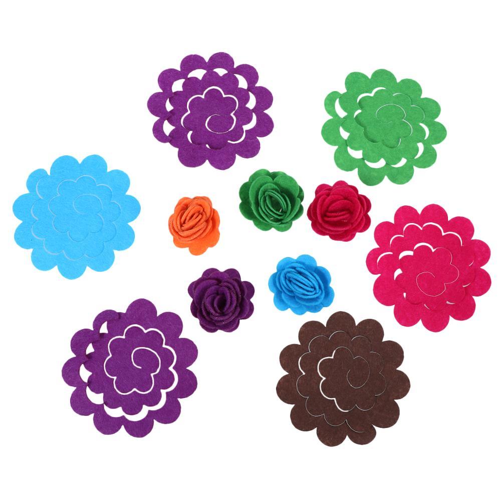 50 Pcs Simulation Felt Flower Cute Fashion Flower Appliques Exquisite Die Cut Felt Florals For Sewing DIY Crafts (Mixed Color)