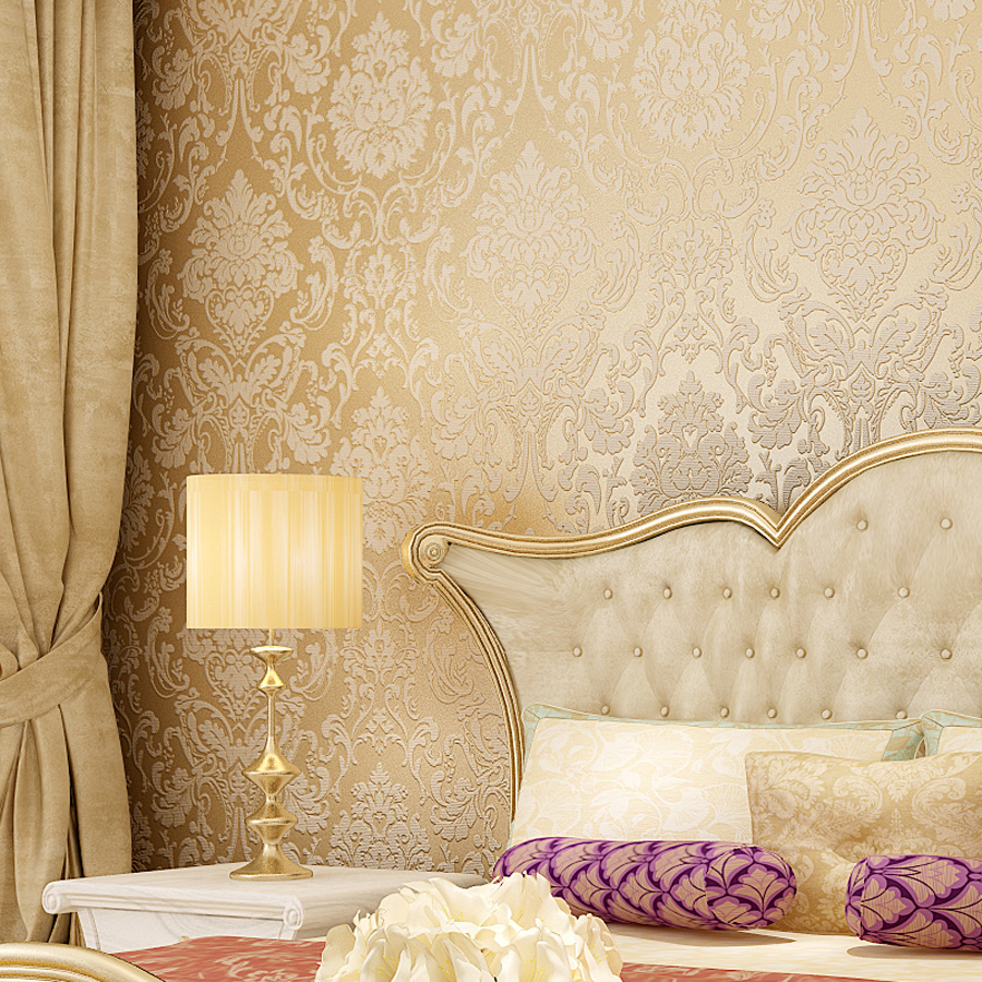 2016 Hot Sale Europe Luxury Damascus Wallpaper Thicken 3D Embossed