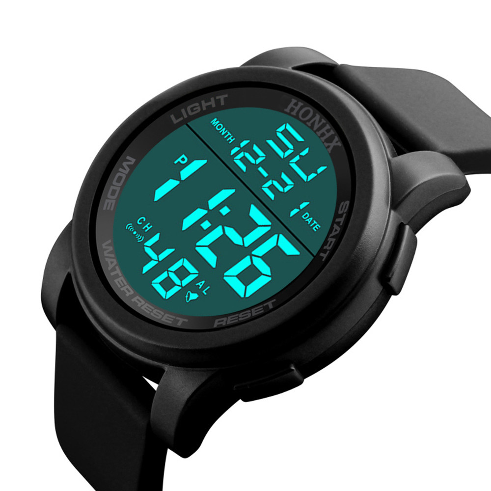 Wrist-Watch Digital Military-Sport Waterproof Men Analog LED -5005luxury Montre Homme