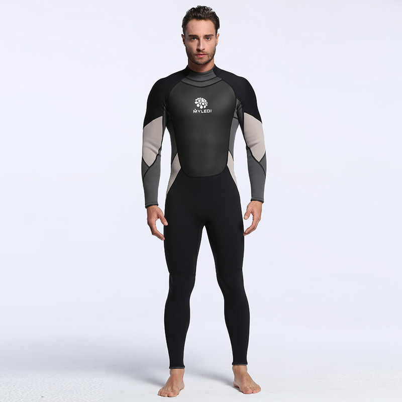 все цены на Men's Spearfishing Wetsuit 3MM Neoprene SCR Superelastic Diving Suit Waterproof Warm Professional Surfing Wetsuits Full Suit