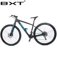 """Bxt 29 polegada de fibra carbono mountain bike 1*11 velocidade freio a disco duplo 29 """"mtb men bicicleta 29er roda s/m/l quadro completo"""