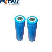 2pcs PKCELL AA 14500 3.2v lifepo4 Celle Delle batterie agli ioni di Litio Batteria Ricaricabile 600MAH IFR14500 per la Macchina Fotografica Solare ha condotto la Luce