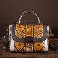 YISHEN Fashion European And American Style Women Crossbody Bags Vintage Embossed Women Handbags Top Handle Shoulder Bags LS8864