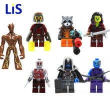 Guardians of the Galaxy Tree Man Ronan Rocket Raccoon Star Lord Drax Action Figure Building Block Toy compatible with legoing
