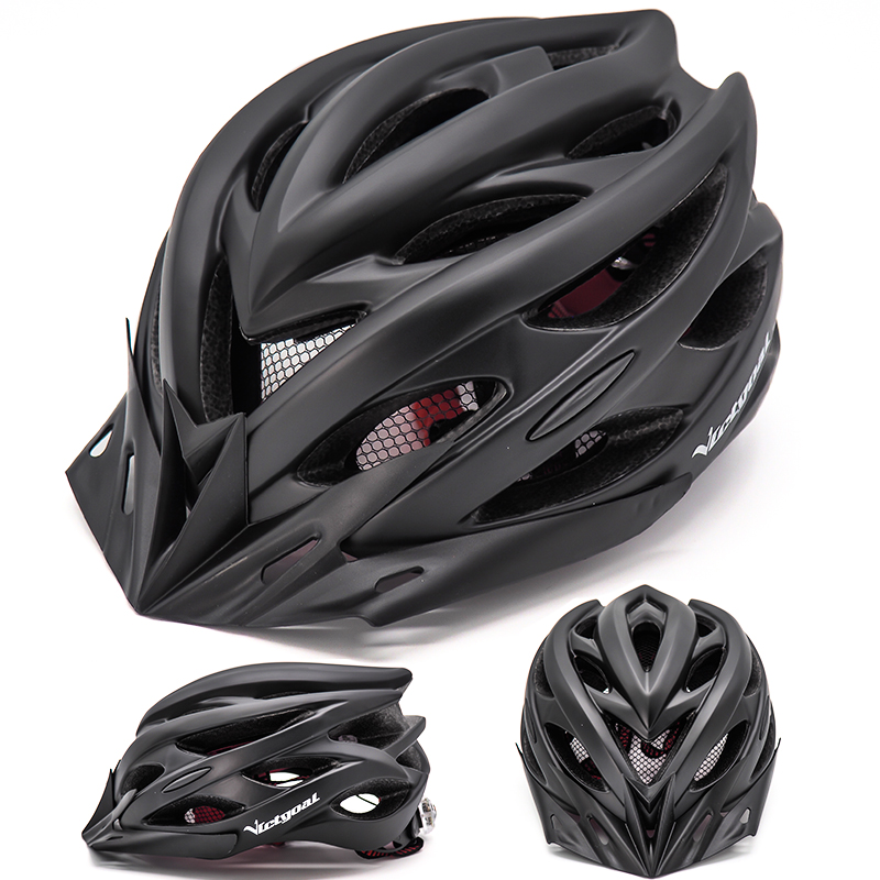 Bicycle Helmets Matte, Black, Men Women  Back Light MTB Integrally Molded 4