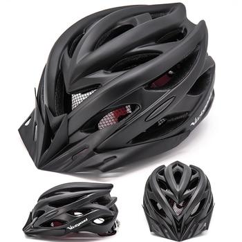 Bicycle Helmets Matte, Black, Men Women  Back Light MTB Integrally Molded 9
