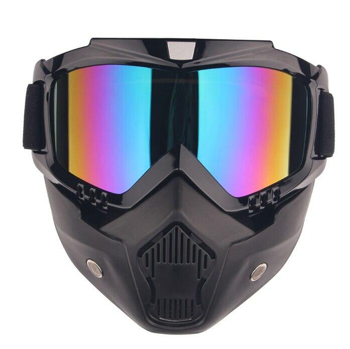 Le chevalier est empêché de se prélasser dans le masque extérieur de lunettes de moto de miroir pour Honda/Yamaha/Suzuki/Kawasaki/vélos de saleté/Gokart/ATV/moto