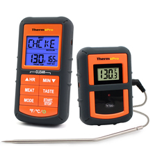 ThermoPro TP 07S A Distanza BARBECUE, Fumatore, Grill, Forno, Forno a base di Carne 300 Piedi Gamma Senza Fili Termometro per Alimenti con il Timer