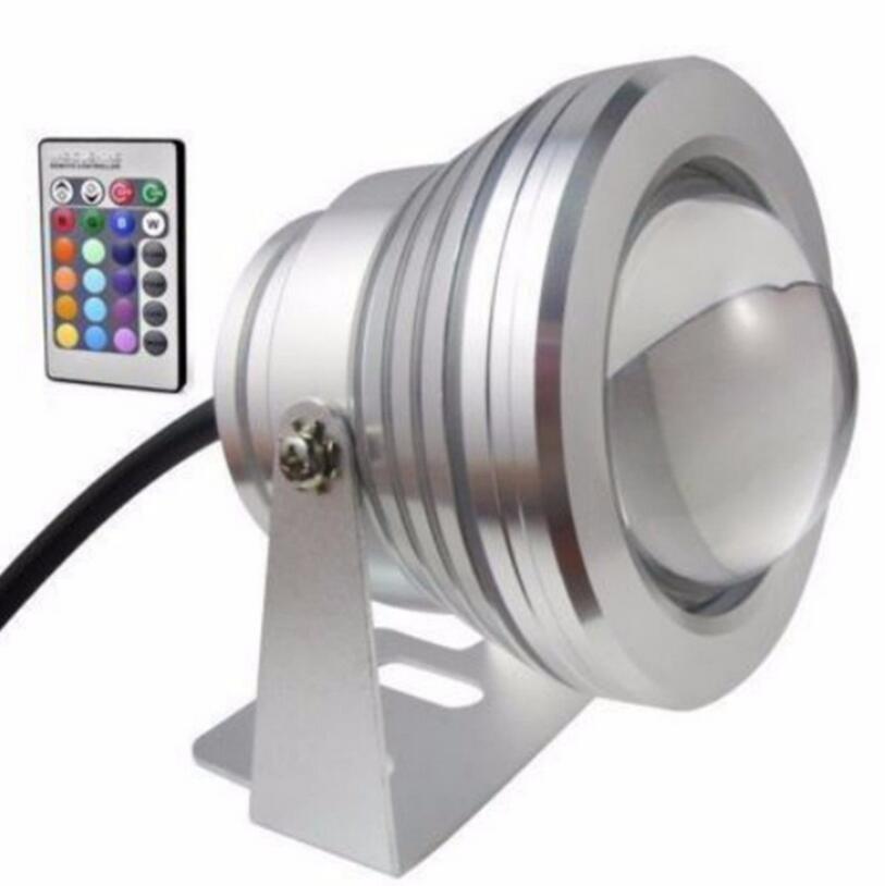 Waterproof 10W RGB LED Outdoor Color Changing Flood Spot light Garden Lamp Remot