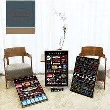 Pósteres e impresiones de frases clásicas de Friends TV Show cuadro decorativo en lienzo para decoración del hogar sala de estar sin marco