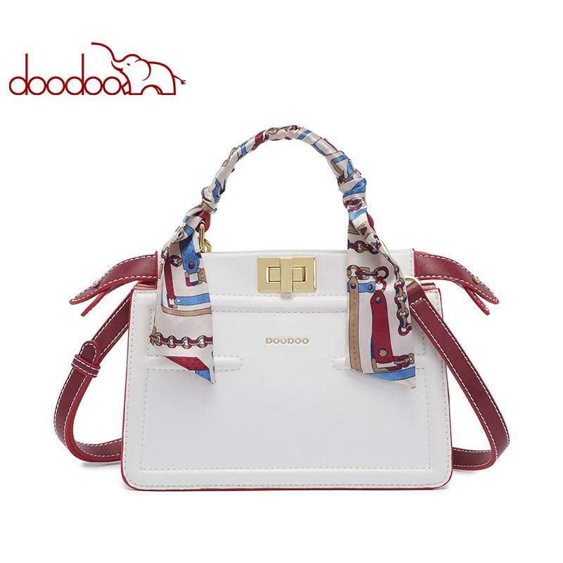 DOODOO Brand Women Handbag Female Shoulder Crossbody Bags Ladies Pu Leather Top handle Messenger Bags 2018