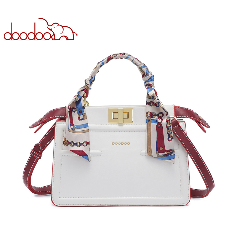 DOODOO Brand Women Handbag Female Shoulder Crossbody Bags Ladies Pu Leather Top handle Messenger Bags 2018 New SmallTote Bag-in Shoulder Bags from Luggage & Bags    1