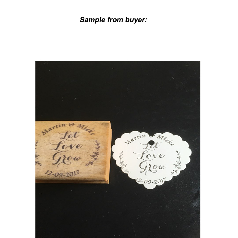 Let Love Grow Customized Wedding Favor Stamps Custom