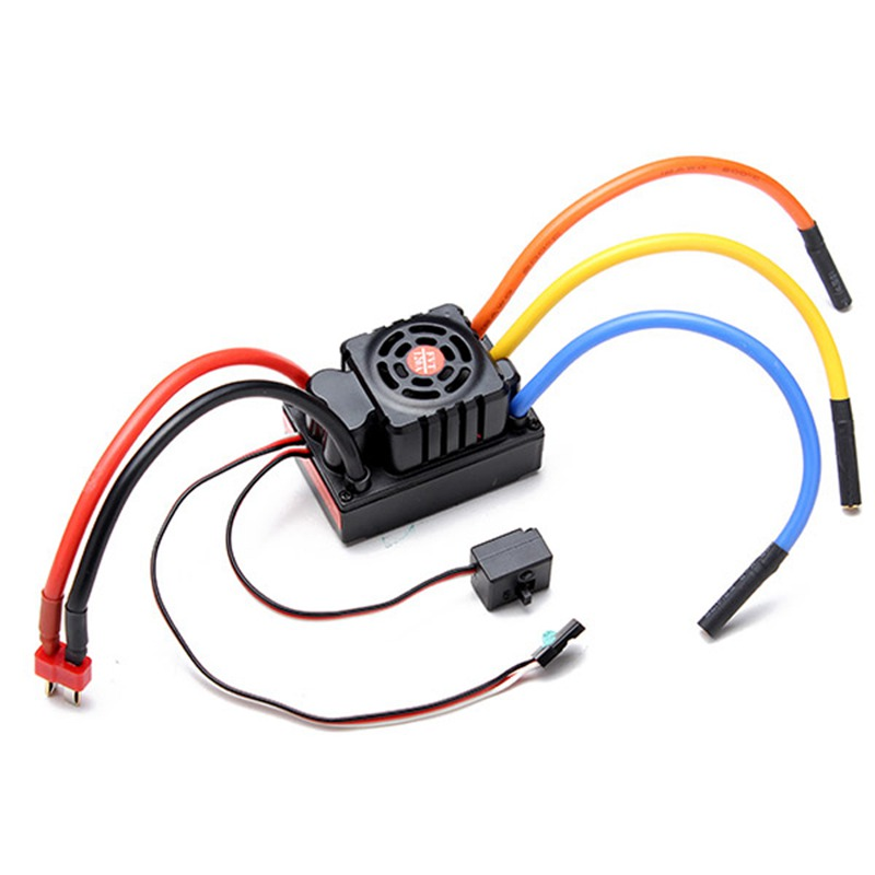 فرش 120A ESC 2 6 ثانية 24 فولت sensored sensorless للماء سرعة تحكم ل 1/8 RC السيارات خارج عربات الجر وراء الدواب حفارات e سكوتر-في قطع غيار وملحقات من الألعاب والهوايات على  مجموعة 1