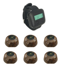 JINGLE BELLS 6 call button+1 watch pager wireless calling systems for restaurants waiter call button hotel waiter calling system