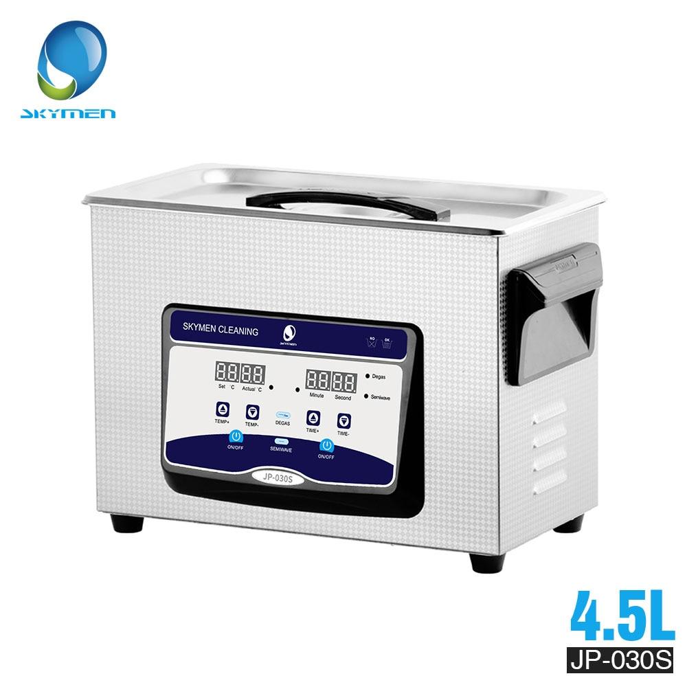 Ev Aletleri'ten Ultrasonik Temizleyiciler'de SKYMEN dijital ultrasonik temizleyici banyo 4L 4.5L 180W 110/220V ultrasonik temizleyici taşınabilir baskı kafası temizleyici makinesi