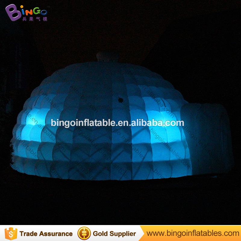 6X6X3 mts Inflatable yurt dome tent with LED lighting for events - toy tent 6 5ft diameter inflatable beach ball helium balloon for advertisement