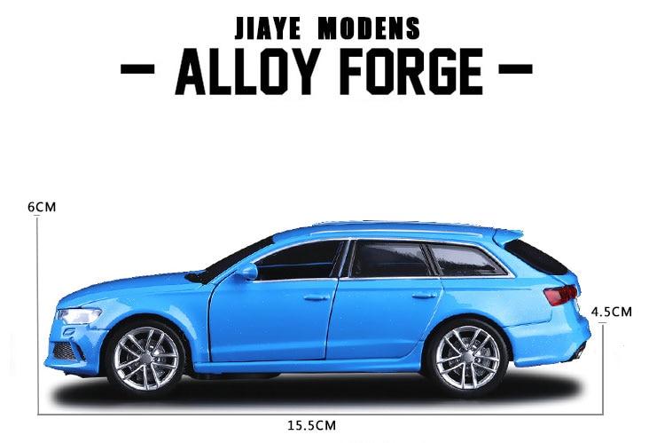 Nouveau 1:32 Alliage Voiture Modèles Haute Simulation Audi RS6 Métal modèles réduits Véhicules Jouets Pull Back & Clignotant et Musique Livraison gratuite