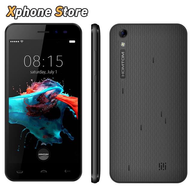 Original homtom ht16 5.0 pulgadas android 6.0 3g wcdm 8 gb + 1 gb teléfono móvil mtk6580 quad core 1.3 ghz dual sim 3000 mah teléfono móvil