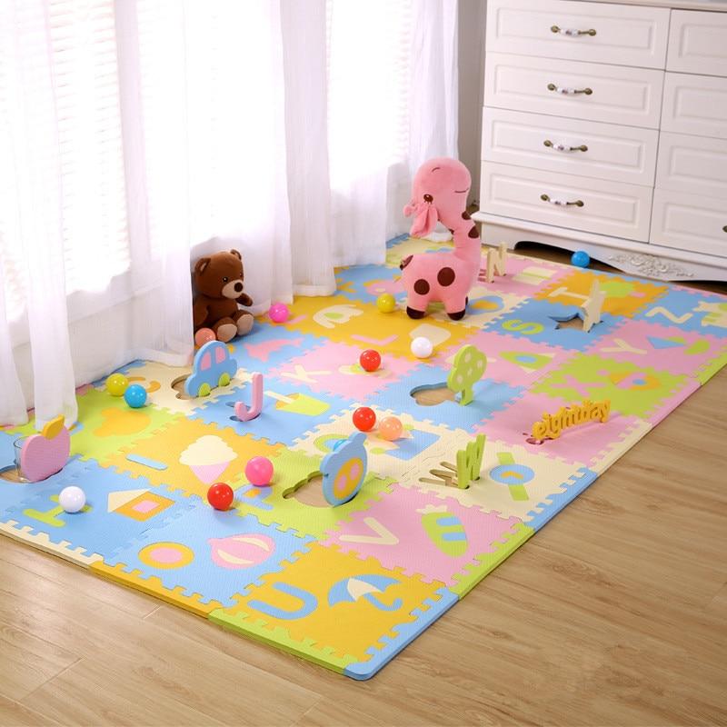 Прекрасні діти сходження майданчик головоломки головоломки мультфільм дитини повзати pad паркан товсті килимки безпеки 30 * 30 см * 1.3 см товщини