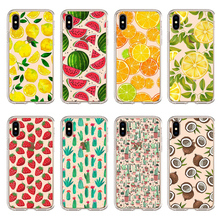 Fashion fruit Case For iPhone XS MAX Tropical cactus Cover X XR 6 6S 7 8 Plus Flamingos Soft TPU Phone