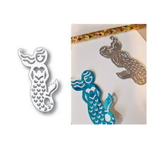 Eastshape Mermaid Cutting Dies Christmas Metal Stencils for DIY Scrapbooking Album Paper Card Embossing