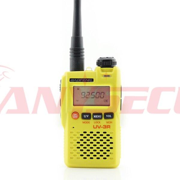 Bao Feng uv-3r Plus jaune double bande talkie-walkie VHF 136-174 & UHF 400-470 MHz radio 2 voiesBao Feng uv-3r Plus jaune double bande talkie-walkie VHF 136-174 & UHF 400-470 MHz radio 2 voies