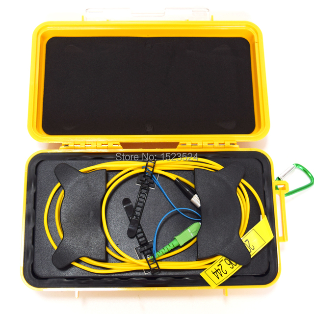 Eliminator martwej strefy OTDR, pierścienie światłowodowe, reflektometr światłowodowy skrzynka z przewodami rozruchowymi SM 1310/1550nm 500M