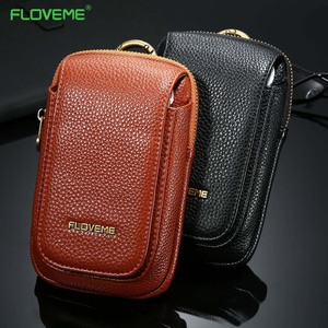 FLOVEME Universal Leather Case For iPhone 7 6 6s Plus Cases Leather Wallet For iPhone 5s SE 7 X 10 8 Case Retro Bag Cover Pouch