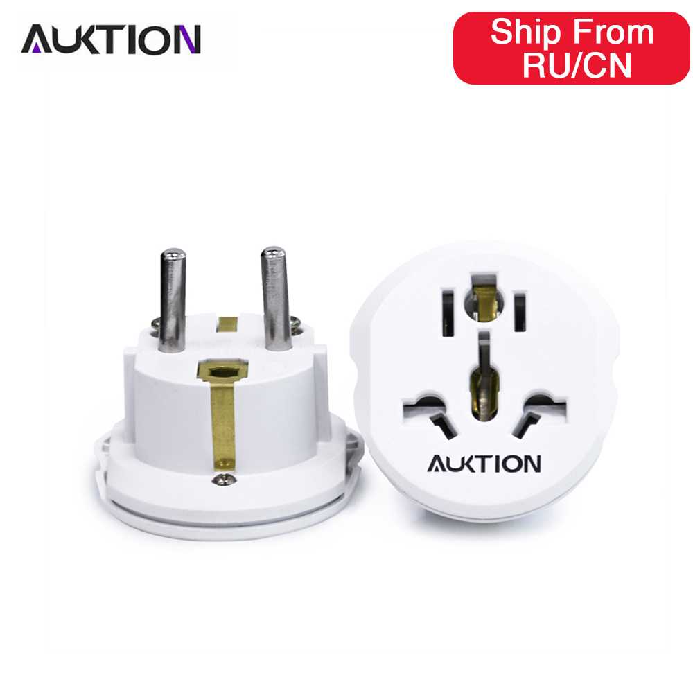 AUKTION 5 teile/los 16A Universal EU (Europa) konverter Adapter 250V AC Reise Ladegerät Wand Power Steckdose Mit Hause Adapter