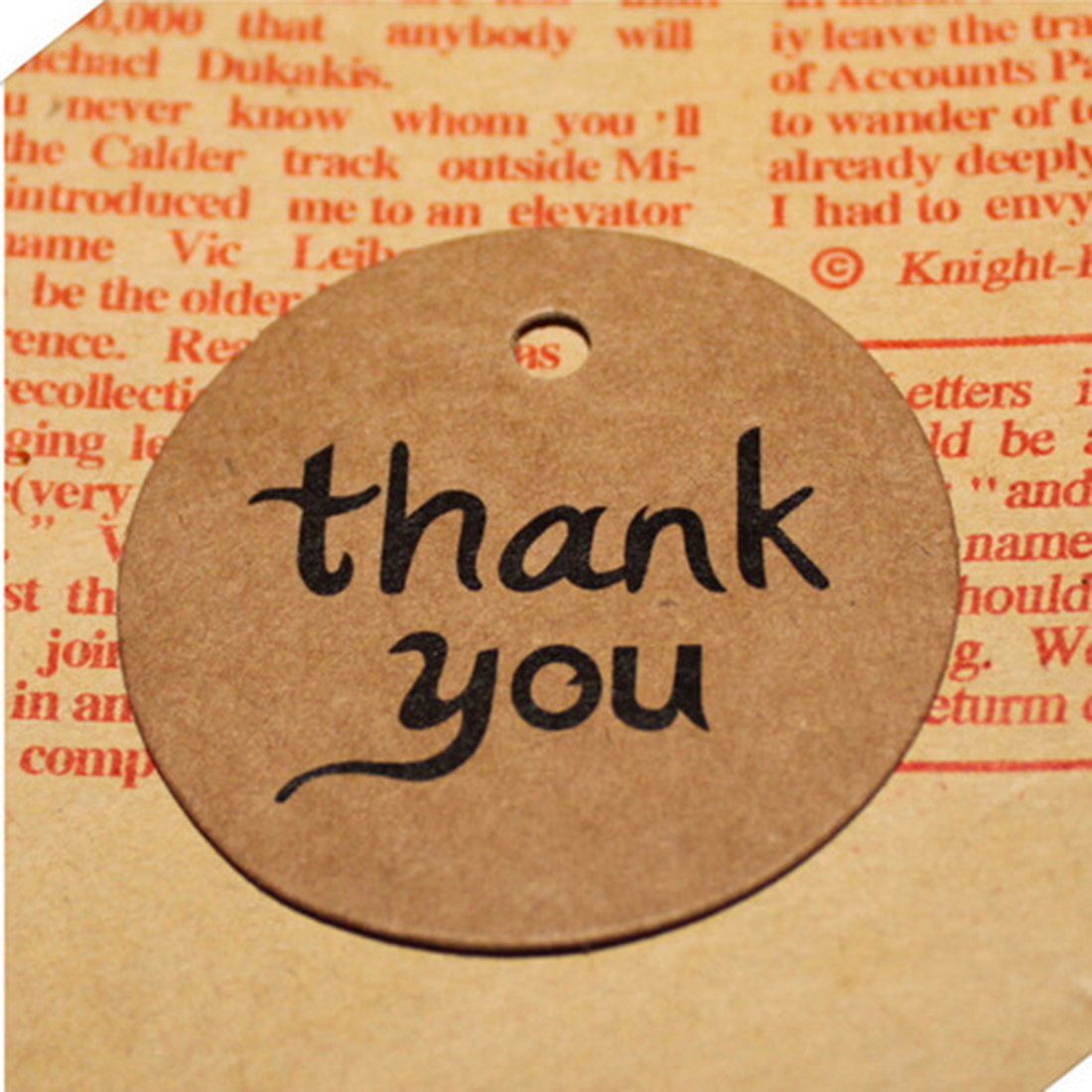 thank youKraft Paper Gift Tags Wedding Doorplate Scallop Favour Luggage 10Pcs/set