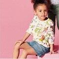 Meninas novas Camisas de T Primavera Roupas Nova Crianças Desgaste Do Bebê Camisetas Menina Tops Camisas Da Criança Do Bebê Da Menina das Crianças