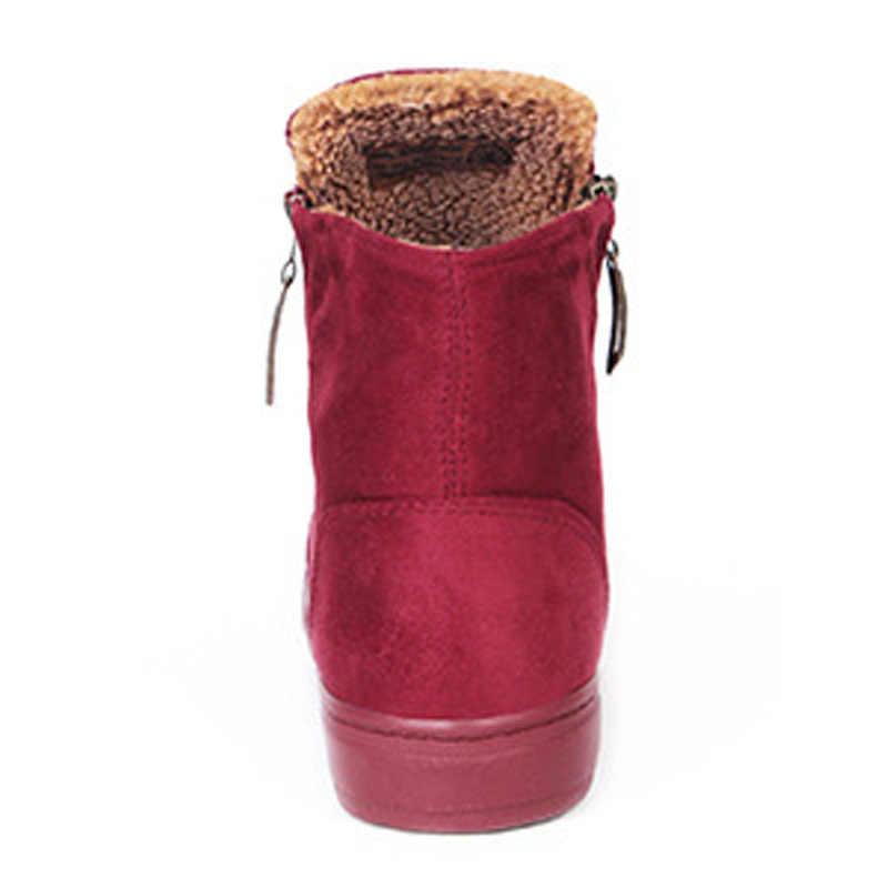 Kadın çizmeler Botas 2017 yeni varış kadın kış çizmeler sıcak kar botları moda platformu yarım çizmeler kadın ayakkabı