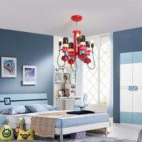 New style British soldier chandelier children's room British chandelier girls room bedroom lamp warrior lamps