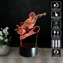 buy Spiderman Night Lamp USB Table Lamps Imitation Crysta 3D Nightlight Gift Decorative Lamp Gece Lambas Children