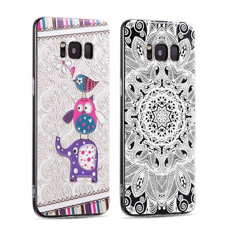 Samsung Galaxy S8 Plus üçün 3D gücləndirici yumşaq silikon - Cib telefonu aksesuarları və hissələri - Fotoqrafiya 5