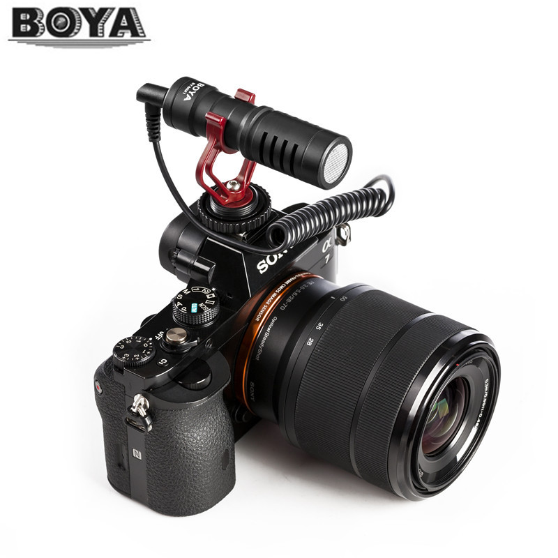 BOYA BY-MM1 Shotgun Microphone Video camera Interview Microfone for Smooth Q/ Nikon DSLR Camera/iPhone 7 6 Andriod Smartphone