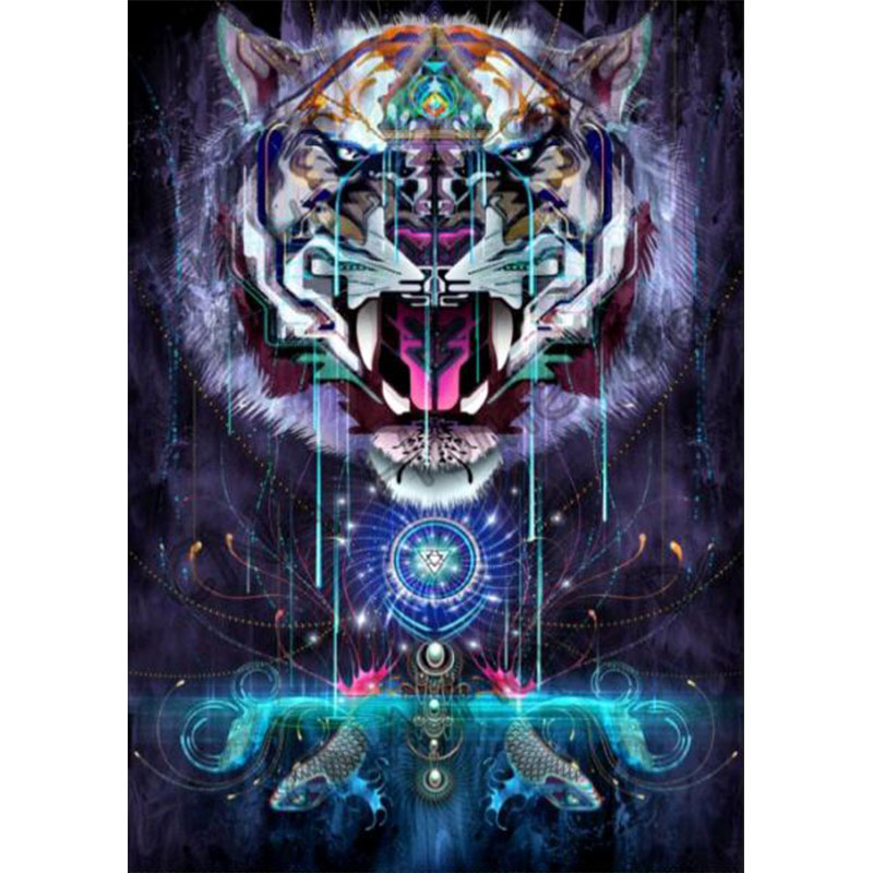 tiger diamond Embroidery diy painting mosaic 3d cross stitch picture H835