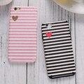Kisscase bonito carta tarja seda case para iphone 6 6 s tpu suave silicone tampa traseira para o iphone 6 6 s plus slim coque acessórios