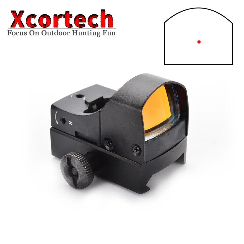 Spor ve Eğlence'ten Nişan Dürbünleri'de Taktik Av 1X Mini Red Dot Kapsam Holografik Tüfek Mikro Refleks kırmızı nokta görüşü Optik Kapsam Airsoft Için title=