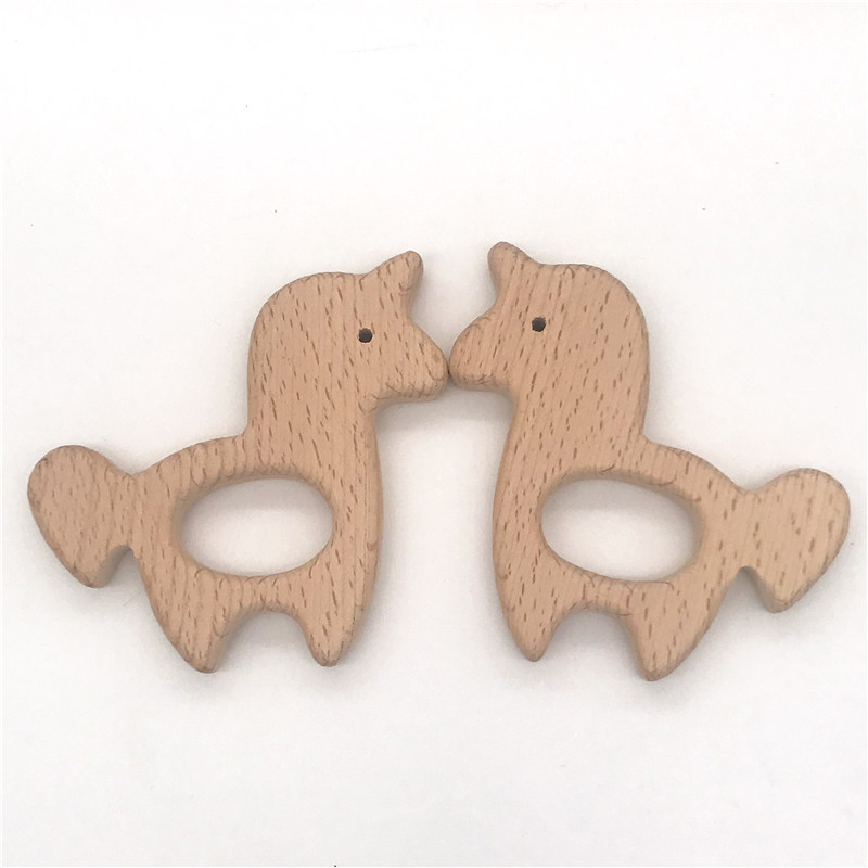 Free shipping!set of 5pcs,organic beech wood crafts,unicorn & Trojan horse, non-toxic for baby boy gift Chew toys,let's start!