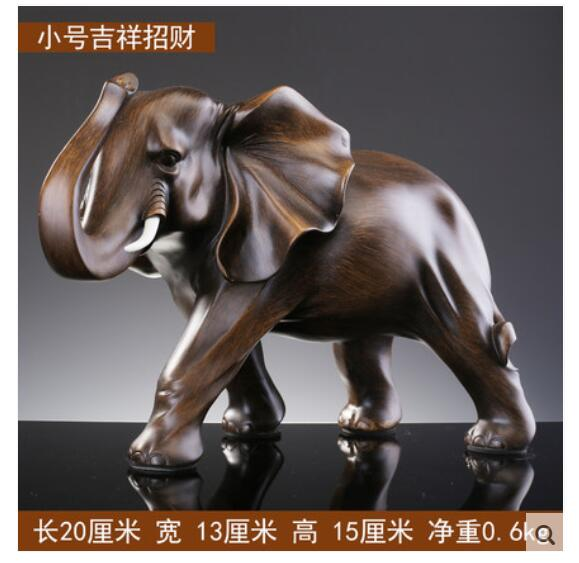 crafts Asian Folk elephant Zodiac gifts Statue Lucky Elephant ornaments crafts resin housewarming opening office room decor Hom