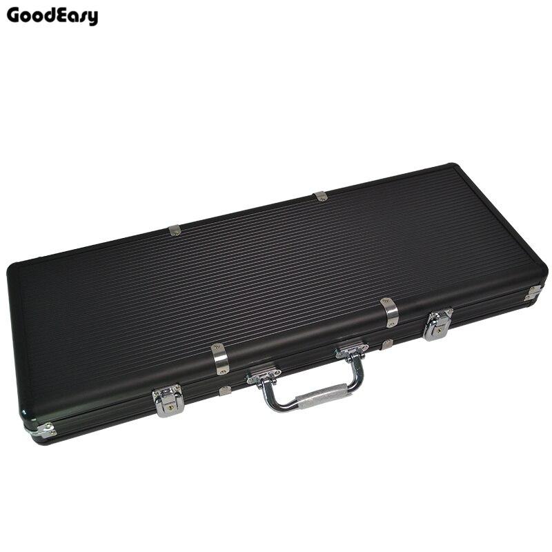 Di alta Qualità 500 pz Capacità Chip Valigia Chip Contenitore Caso di Chip/Box poker chips valigia In Alluminio