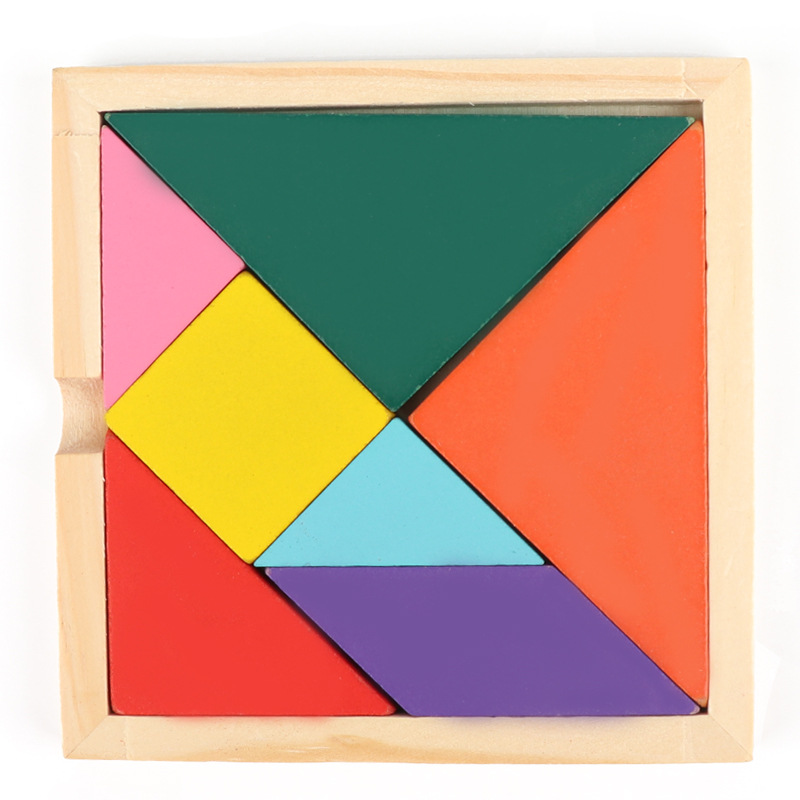 Montessori Toys Educational Wooden Toys for Children Early Learning Jigsaw Puzzles Kids Match Tangram Clever Board