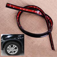 CITALL Black Auto Car Fender Flare Wheel Eyebrow Protector Wheel Arch Lips Cover Trim Strip